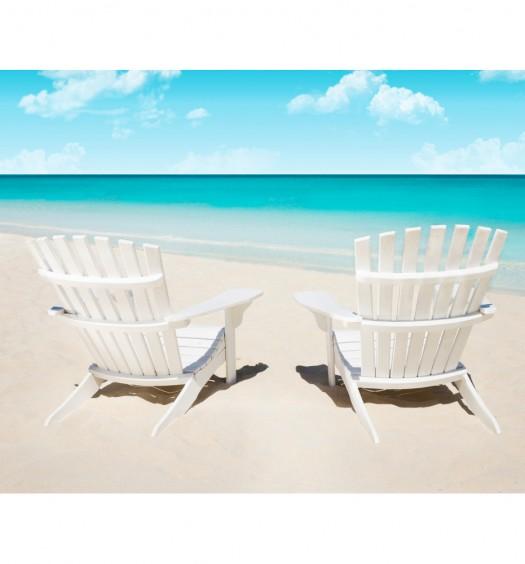 WHite Beach Chairs 0975