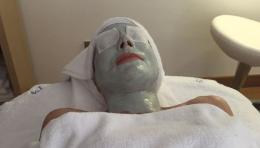 Me in a face mask: A superb visit to the Verdura Resort spa