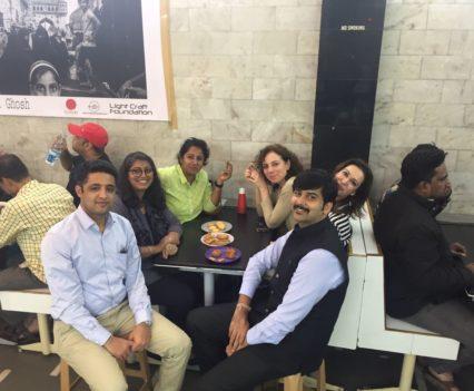 Team in Cafe