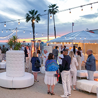 Opening White Party on Santa Monica Beach