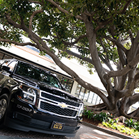 Pure Luxury Transportation arrivals at Fairmont Miramar Hotel & Bungalows