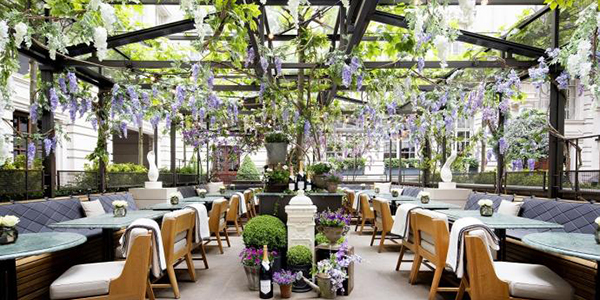 Nyetimber Secret Garden, The Terrace, Rosewood London