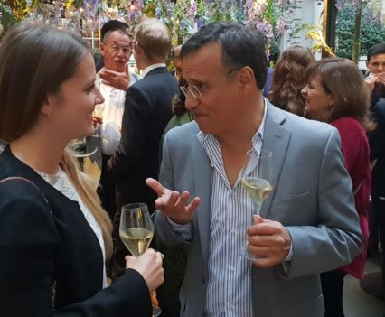 Guests enjoying the Connections Social at the Rosewood London