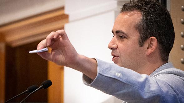 Marc Mekki debating the power of technology within luxury travel