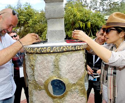 Constanza Ibarra during experiences in Quito
