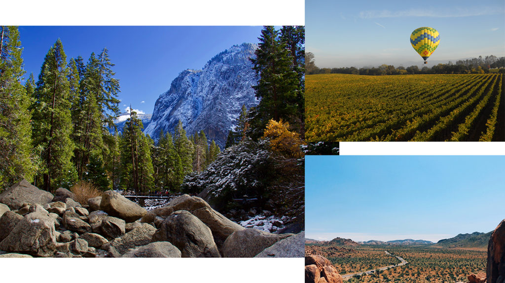 Natural retreats - Yosemite, Joshua Tree & Sonoma County