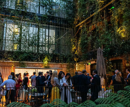 Guests enjoying sundowners at The Mandrake Hotel
