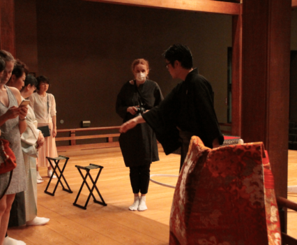 My Taiken Noh theatre backstage